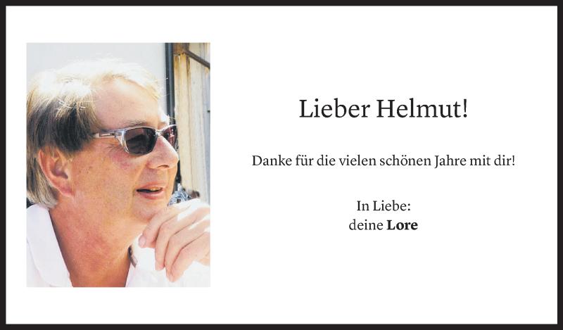 Todesanzeige für Helmut Schwärzler vom 09.10.2021 aus Vorarlberger Nachrichten