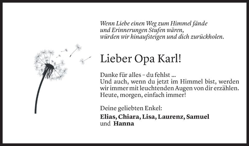 Todesanzeige für Karl Martin Winder vom 02.05.2021 aus Vorarlberger Nachrichten