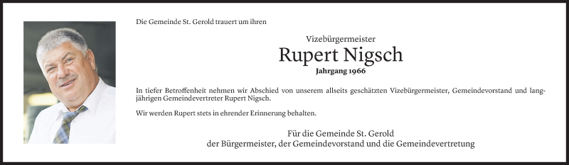 Todesanzeige für Rupert Nigsch vom 10.05.2021 aus vorarlberger nachrichten