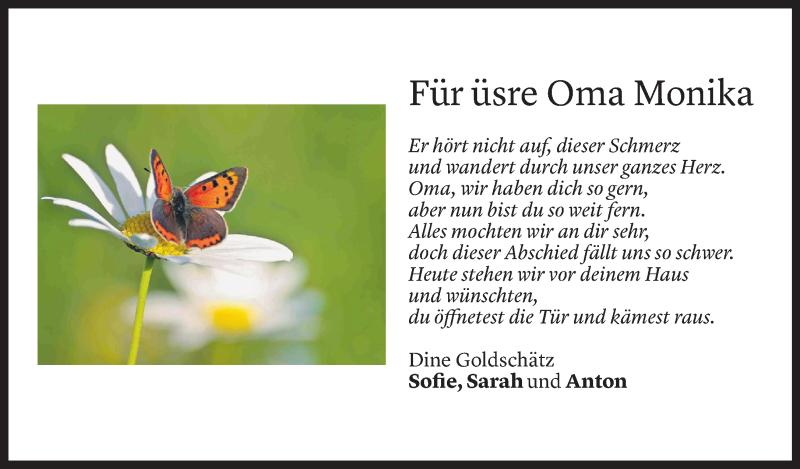 Todesanzeige für Monika Jäger vom 10.06.2021 aus Vorarlberger Nachrichten