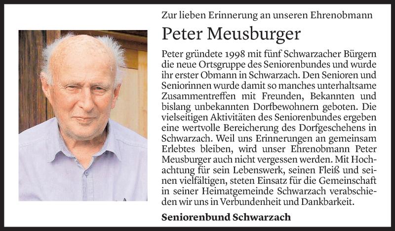 Todesanzeige für Peter Meusburger vom 01.07.2021 aus Vorarlberger Nachrichten